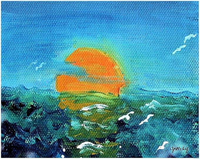 Ocean Sunset Print