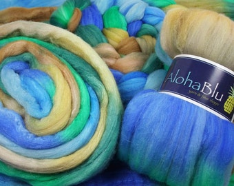 LIFE'S A BEACH - Superwash Merino/Merino/Silk roving - 2.0 oz