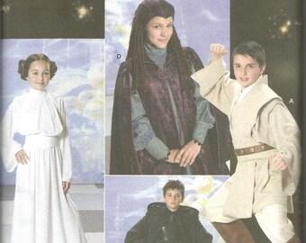 Star Wars Costumes for Kids Anakin Luke Skywalker Princess Leia Obi-Wan Kenobi Queen Padme Amidala Simplicity 4426 Uncut Child's Size 7-14