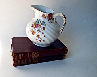 Vintage Creamer-Severn Flowered Transferware 1920s