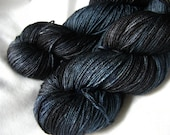 RESERVED for cnrstone - Yak Silk and Merino - Luxury Fingering Weight - Dead of Night