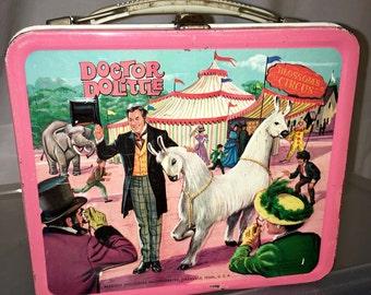 1967 Doctor Doolittle Rex Harrison movie Aladdin industries metal lunch box lunchbox