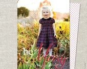 Whimsical Be Merry Christmas Card | Photo Christmas Card | Photo Holiday Card | Double Sided | Printable JPG PDF - Be Merry with Swiss Dot
