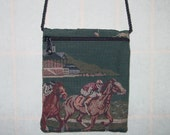 Churchill Downs Horse Racing Mini Cross Body Bag, Shoulder Bag Purse, Smartphone Purse will fit iPhone 6 Plus,Equestrian Purse