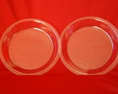 Set of 2 Vintage Deep Dish 10 inch Pyrex Pie Plates Number 210 Very Clean Clear Pyrex Glass 10 inch Glass Pie Plates