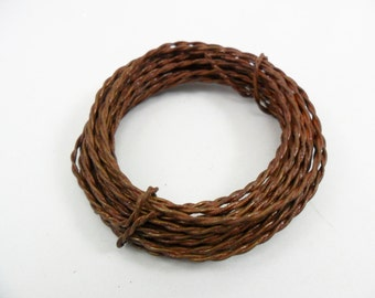 Rusty Wire Twisted 3 Rolls 20 Gauge 6 Yards Per Roll Craft Wire