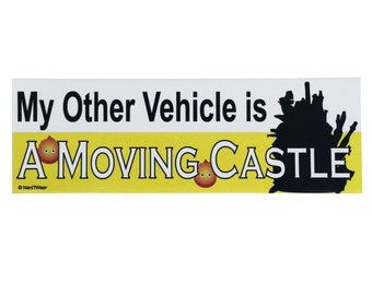 Howl's Moving Castle Bumper Sticker: My Other Vehicle is a Moving Castle