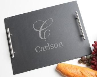 slate cheese board custom engraved slate cheese board monogram serving board