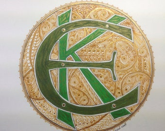 Monogram Celtic inspired