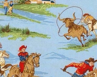 Cowboy fabric by Robert Kaufman