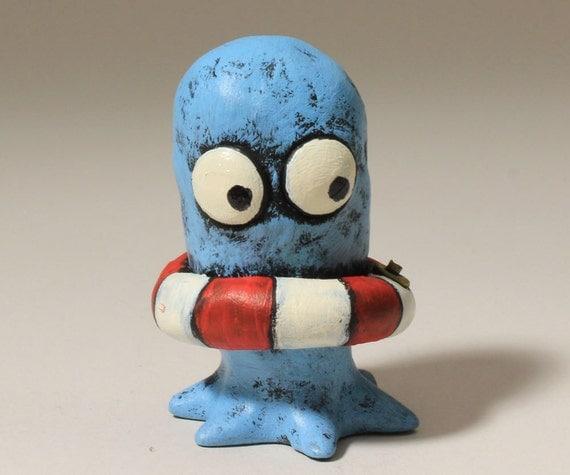 Safety Squid, miniature sculpture