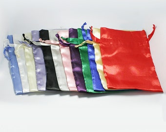 Set of 25 Satin Bags, 3x4 Inch Favor Bags with Drawstrings - Wedding Favor Bags, Sachets, Gift Bags, Jewelry Bags