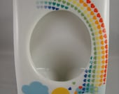 Rainbow Heart Ceramic Photo Holder