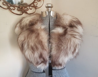 Vintage Fox Fur Stole Very Thick and Plush Fur Stole Fur Collar Winter Bridal