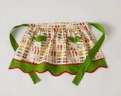 Child's Betsy Half Apron Christmas Fabric