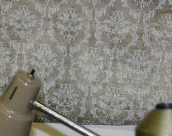 Jeanne d'Arc Living Cream Wash Dark Taupe Damask Wallpaper Remnant