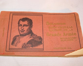 23 Vintage French Postcards, Napolean Souvenir of a visit to the column of the Grand Army , Boulogne- sur-mer