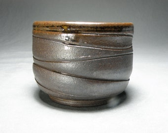 Handmade Wheel Thrown Ceramic Teacup, Matcha Chawan