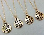 Celtic gold necklace, irish necklace, celtic necklace, celtic knot, irish jewelry, irish wedding, celtic jewelry, celtic trinity knot