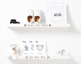 Personalised Baby Bear Shelf