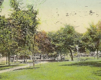 Franklin Square Des Moines Iowa Vintage Postcard 1909