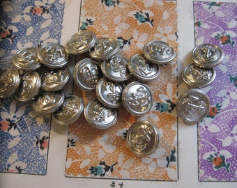 Vintage Nautical Anchor Buttons...new old stock...1950...lot/20