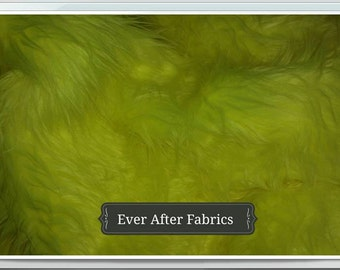 Neon Yellow Faux Fur