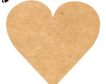 Burlap Kraft Heart Envelope Sticker Seals