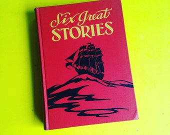 Six Great Stories 1937 Including Sleepy Hollow, Treasure Island, Shakespeare & Rip Van Winkle - Vintage Kids Book