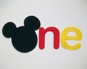 DIY No-Sew - Mickey Mouse One Applique - Iron On