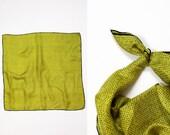 Alphabet Print Silk Scarf • Silk Neck Scarf • Summer Scarf • ABC Print Scarf Silk • 60s Mod Neckerchief • Neck Scarf • Head Scarf | SC219