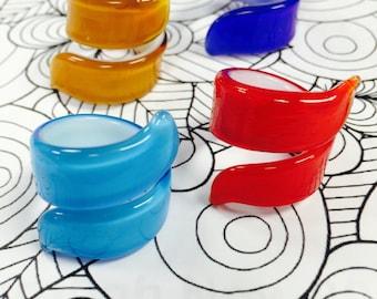 Spiraled Murano Glass Rings