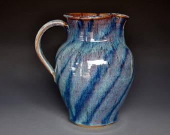 Ocean Blue Pottery Pitcher Ceramic Pitcher Stoneware Pitcher Handmade Pitcher Jug A