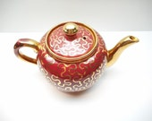 Vintage Red  Teapot Sudlow's Burslem Made in England