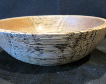 Bowl oak hand turned small