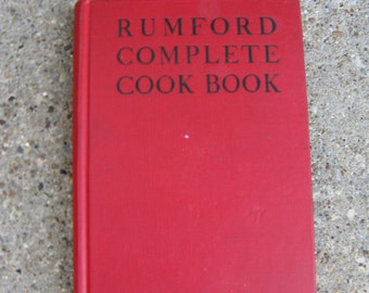 rumford complete cookbook 1944 hardcover lily hayworth wallace war years cookbook collectible gift idea