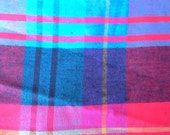 Blue and Red Plaid Cotton Fabric 5 Yards X0454 MO