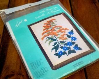 Vintage Crewel Picture Kit #761 Goldenrod