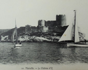 French Vintage Unused Postcard - If Château, Marseille, France