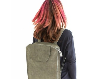 Gray Leather Backpack, Gray Backpack, Leather Backpack, Women Backpack, Laptop Backpack, Gray Leather Backpack, Travel Bag, Gray Leather bag