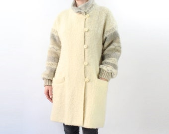 VINTAGE Icelandic Wool Jacket Sweater Coat
