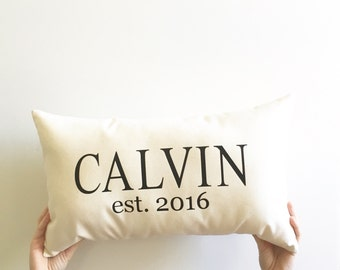 personalized wedding gift for couple, custom pillow cover, family pillow cover, name pillow cover, newlywed gift, anniversary gift