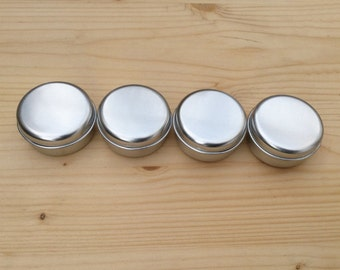 round metal tins, silver color 15ml tin box, lip balm box, diy container (a set of 12 boxes)