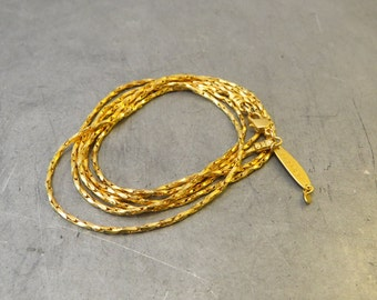 long basic necklace 24K gold plated