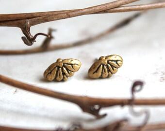 Moth Earrings, Gold Butterfly Stud Earrings, Insect Jewellery, Little Gold Post Earrings, Bug Earrings, Tiny Butterfly Earrings Moth Jewelry