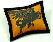 Catnip Toy, Black and Orange Pillow, Flying Horse, Cool Cat Toys, Pegasus Pillow, Pegasus Toy, Catnip Pillows BLACK PEGASUS