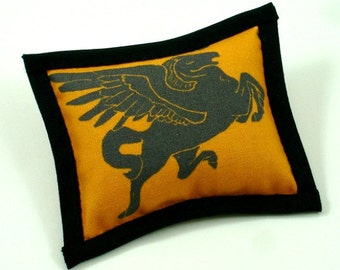 Catnip Toys, Cat Toys, Greek Pillows, Classy Cat Toys, Flying Horse Pillow, Pegasus Pillow,  BLACK PEGASUS