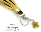 Be Happy - Charm Add On - add this charm to any of our SILVER tassels
