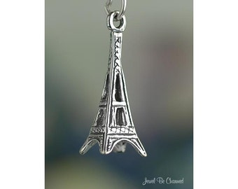 Sterling Silver Eiffel Tower Charm Paris France Europe 3D Solid .925