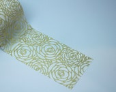 GOLD ROSE - Foil Tape - 5 1/2 yards yards - Gift Wrap - Packaging - Paper Tape - Gold wedding